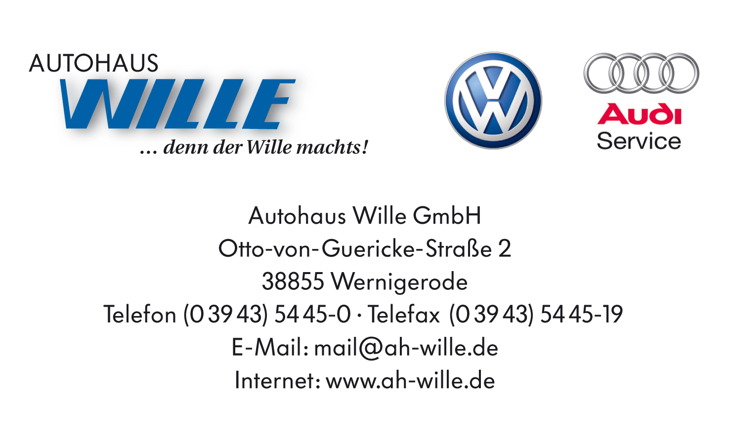 Logo Ah Wille VW Audi